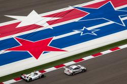 #22 Alex Job Racing Porsche 911 GT3 Cup: Cooper MacNeil, Jeroen Bleekemolen, #9 RSR Racing Oreca FLM09 Oreca: Bruno Junqueira, Duncan Ende