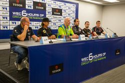 Press conference for the North American WEC drivers: Paul Dalla Lana, Kevin Weeda, Tracy Krohn, Rica