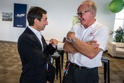 American drivers at Le Mans event: ACO President François Fillon and Corvette Racing Doug Fehan
