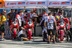 Hero bikes ready for Friday qualifying