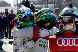 Race winner Augusto Farfus, second place Mike Rockenfeller