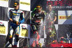 Tom Sykes celebrating race win