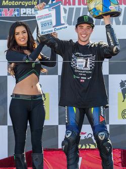 Josh Herrin celebrating 2013 Superbike championship