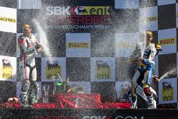 Sunday Superbike winners celebrate on the podium