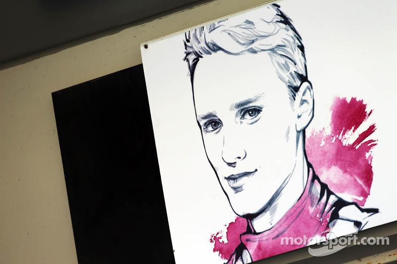 Pit garage sign for Max Chilton, Marussia F1 Team