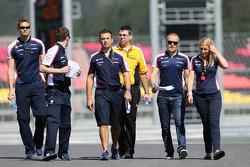 Valtteri Bottas, Williams takım ile pist yürüyüşü