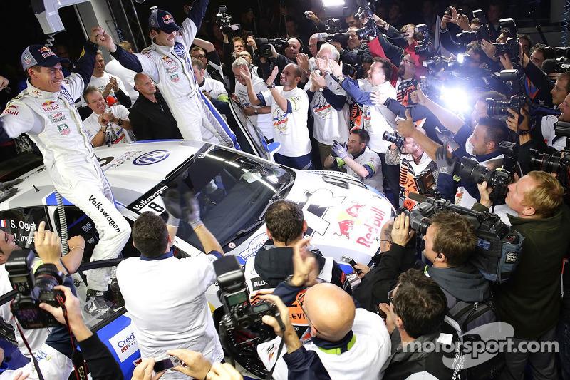 2013 kampioenen Sébastien Ogier en Julien Ingrassia, Volkswagen Polo WRC, Volkswagen Motorsport