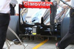 Sergio Perez, McLaren MP4-28 rear diffuser