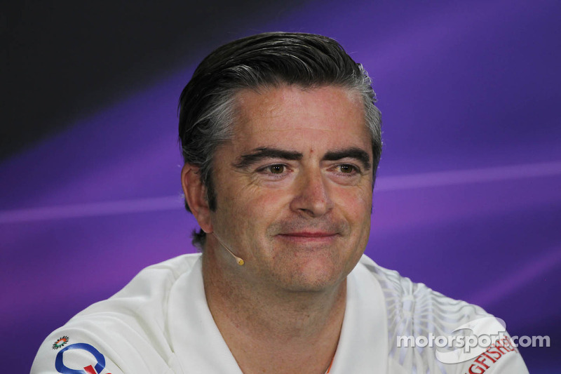 Andy Stevenson, Sahara Force India F1 Team Manager bij de FIA-persconferentie