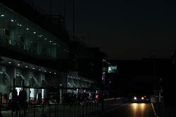 pit stop, night