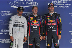 Pole: Sebastian Vettel, Red Bull Racing, 2. Lewis Hamilton, Mercedes AMG F1 W04, 3. Mark Webber, Red