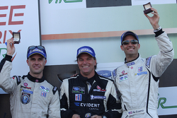 P2 terceiro colocado Marino Franchitti, Stefan Johansson, Guy Cosmo