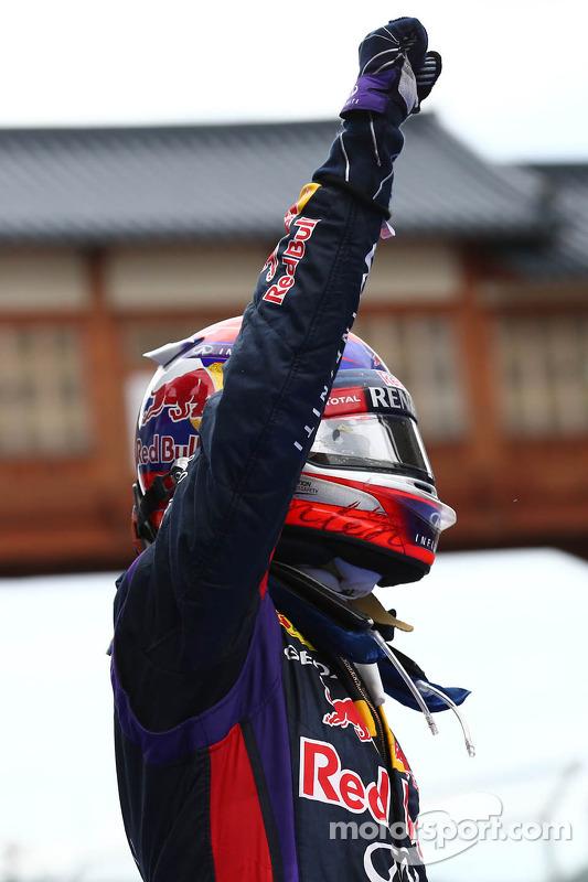 primeiro colocado: Sebastian Vettel, Red Bull Racing