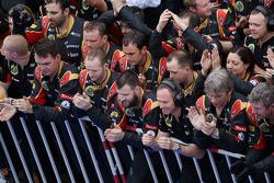 Lotus F1 Team celebrate, end, race