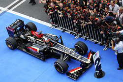 2.d Kimi Raikkonen, Lotus F1 E21 arrives kapalı park