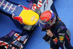 Race winner Sebastian Vettel, Red Bull Racing RB9 celebrates in parc ferme