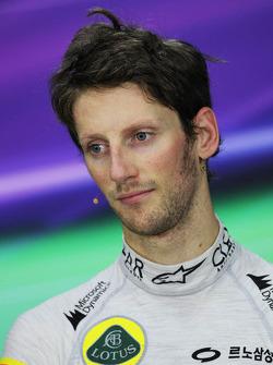 Romain Grosjean, Lotus F1 Team FIA basın toplantısı