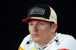 Kimi Raikkonen, Lotus F1 Team FIA basın toplantısı