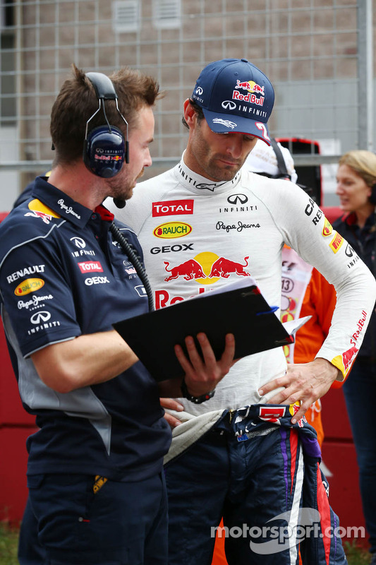 Mark Webber, Red Bull Racing op de grid