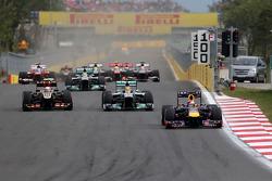 Départ de la course, Sebastian Vettel, Red Bull Racing