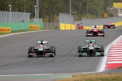 Nico Hulkenberg, Sauber F1 Team Formula One team and Lewis Hamilton, Mercedes Grand Prix