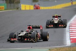 Kimi Raikkonen, Lotus F1 Team and Romain Grosjean, Lotus F1 Team