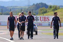 Pastor Maldonado, Williams pist yürüyüşü
