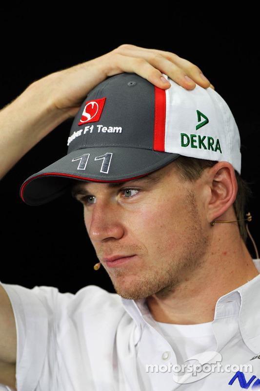 Nico Hulkenberg, Sauber bij de FIA-persconferentie