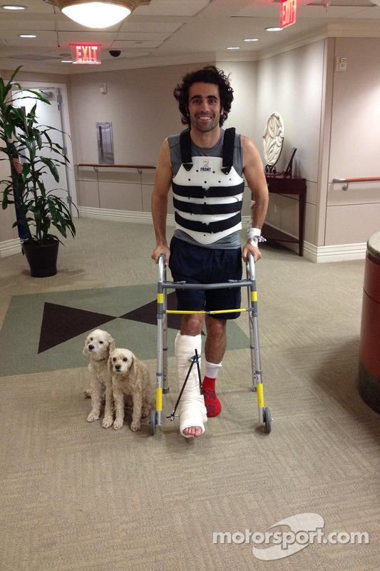 Dario Franchitti verlaat het ziekenhuis