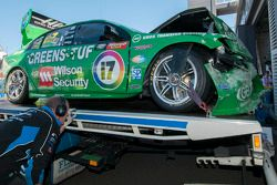 Damaged car of Chaz Mostert and Dale Wood