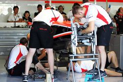 spare Marussia F1 Team MR02 tub is built for Jules Bianchi, Marussia F1 Team