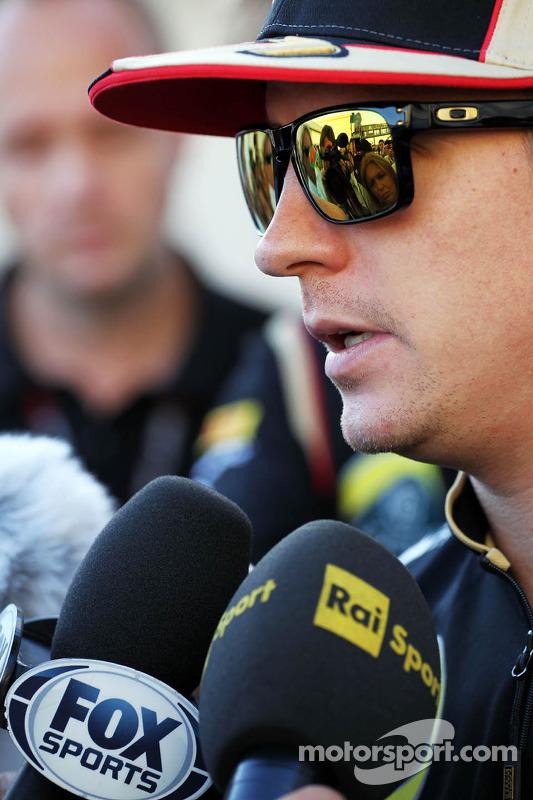 Kimi Raikkonen, Lotus F1 Team with the media