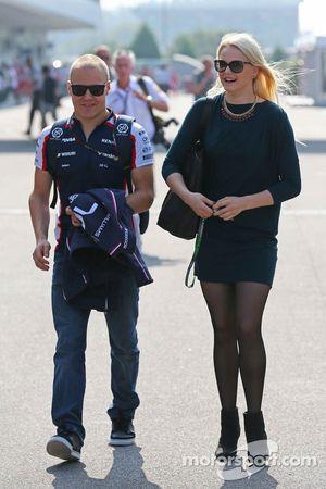 Valtteri Bottas, Williams avec sa petite amie Emilia Pikkarainen