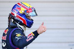Pole: position for Mark Webber, Red Bull Racing