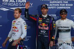 Pole: Mark Webber, 2. Sebastian Vettel, 3. Lewis Hamilton