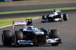 Valtteri Bottas, Williams FW35 ve takım arkadaşı Pastor Maldonado, Williams FW35