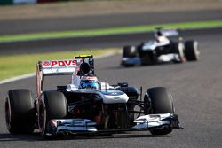 Valtteri Bottas, Williams FW35 et Pastor Maldonado, Williams FW35