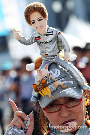 Un tifoso di Michael Schumacher