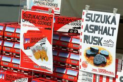 F1 themed delicacies, a merchandise stand
