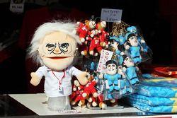 Bernie Ecclestone, CEO Formula 1 Group, glove puppet, a merchandise stand