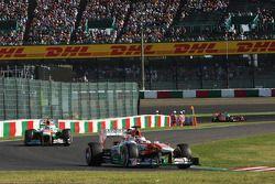 Paul di Resta, Sahara Force India VJM06 ve takım arkadaşı Adrian Sutil, Sahara Force India VJM06