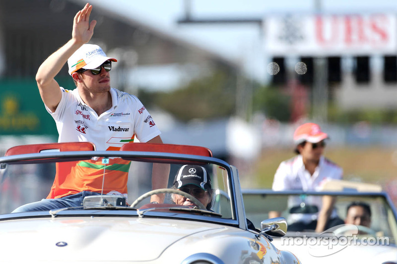 Drivers parade, Paul di Resta, Force India Formula One Team