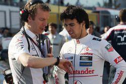 Sergio Pérez, McLaren avec Mark Temple, McLaren
