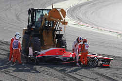 Jules Bianchi, Marussia F1 Team MR02 crashed out at the start of the race