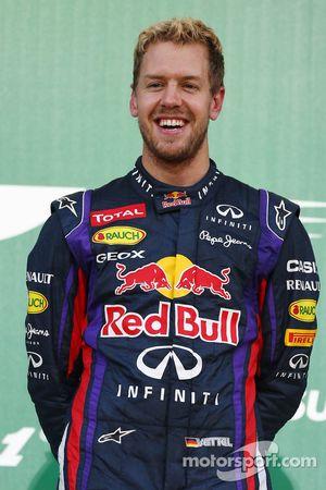 Podio: Sebastian Vettel, Red Bull Racing, ganador de la carrera