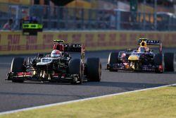 Romain Grosjean, Lotus F1 Team ve Mark Webber, Red Bull Racing