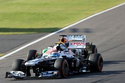 Valtteri Bottas, Williams F1 Team et Paul di Resta, Force India Formula One Team