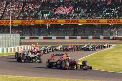 Sebastian Vettel, Red Bull Racing RB9, start, race
