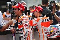 Дани Педроса и Марк Маркес. ГП Малайзии, воскресенье, после гонки.