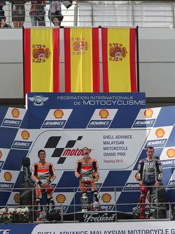 Race winner Dani Pedrosa, second place Marc Marquez, third place Jorge Lorenzo